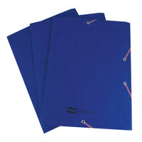 View more details about Europa A4 Dark Blue Portfolio File - Pack of 10 - 55502SE