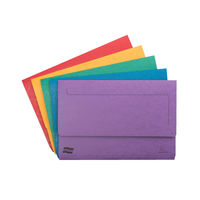 Europa Foolscap Assorted Pocket Wallets 300gsm - Pack of 25 - 4790