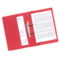 Guildhall Red Transfer Spiral Pocket Files 315gsm, Pack of 25 - GH22142