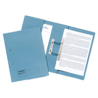 View more details about Guildhall Blue Foolscap Transfer Spiral Pocket Files 420gsm, Pack 25 - GH23033