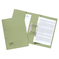 Guildhall Green Foolscap Transfer Spiral Pocket Files 420gsm, Pack 25 - GH23035