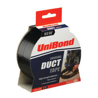 UniBond 50mm x 25m Black Duct Tape
