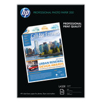 HP Professional White A4 Matte Laser Photo Paper, 200gsm - 100 Sheets - Q6550A