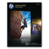 HP Advanced Glossy 13 x 18cm Borderless Photo Paper - 250gsm Q8696A