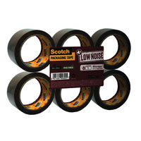 Scotch Tape Low Noise Storage Packing Tape, 48mm x 66m - Pack of 6 - 3120BT/3707