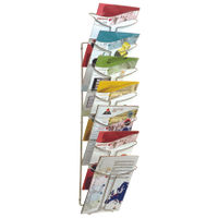 View more details about Alba Wall Mounted 7 Pocket Literature Holder A4 Chrome DD7M