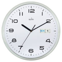 View more details about Acctim Supervisor Wall Clock 320mm Chrome/White 21027
