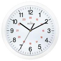 Acctim Metro 24 Hour White 12 Inch Wall Clock - 21162