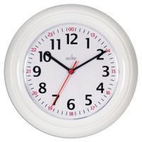 View more details about Acctim Wexham 24 Hour Plastic Wall Clock White 21862