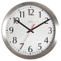 View more details about Acctim Javik 10 Inch Wall Clock Aluminium 27417