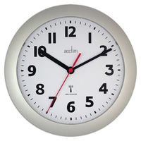 View more details about Acctim Parona Radio Controlled Plastic Wall Clock Silver 74317