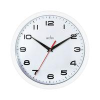 Acctim Aylesbury White Wall Clock - 92/301