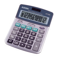 Aurora DT398 Semi Desktop Calculator, 12 Digit Display - DT398