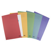 View more details about Elba Bright Assorted Manilla Foolscap Square Cut Folders 285gsm 25 Pack - 26710