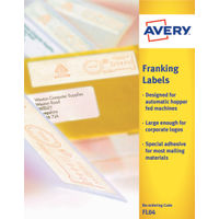 Avery White Franking Labels 104mm x 38mm - Pack of 1000 - FL04