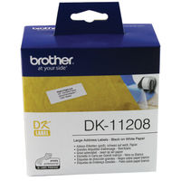 Brother Large Address Labels, Pack of 400 - DK-11208