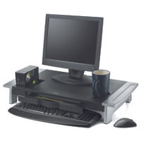 View more details about Fellowes Office Suites Premium Monitor Riser Black/Silver 8031001