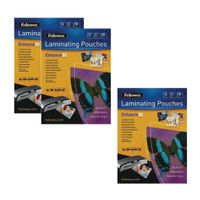 Fellowes A4 160 Micron Laminating Pouches, Pack of 2+1 - BB810551