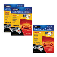Fellowes A4 250 Micron Laminating Pouches, Pack of 2+1 - BB810553