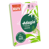 View more details about Rey Adagio Assorted Pastels A4 Coloured Card, 160gsm - AMP2116