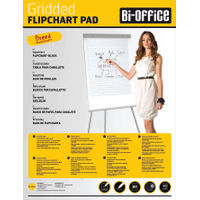 Bi-Office A1 Gridded Flipchart Pads, Pack of 5 - FL012301