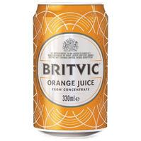 Britvic Orange 330ml Cans, Pack of 24 - 402045