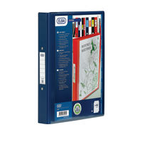View more details about Elba Vision Blue A4 4 O-Ring Binder 25mm - 1301-01