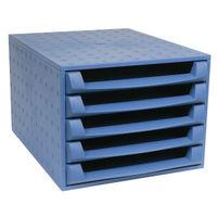 Forever A4+ Blue Five Drawer Set - 221101D