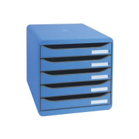 View more details about Exacompta Big Box Plus 5 Drawer Set Blue (Comes with label holders and inserts) 309779D