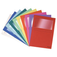Forever Bright Window A4 Folders, Assorted - Pack of 100 - 50100E