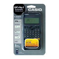 Casio Black FX83ES+ Scientific Calculator, 260 Functions - FX-83GTX-Black