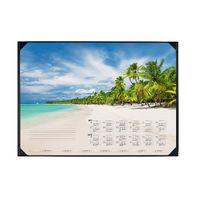 Durable Tropical Beach Calendar Desk Mat - 7311