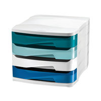 View more details about Riviera by CEP 4 Drawer Desktop Unit Multicoloured 1003940511