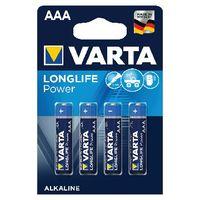 VARTA High Energy Alkaline AAA Batteries, Pack of 4 - 4903620414