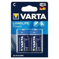 VARTA High Energy Alkaline C Batteries, Pack of 2 - 4914121412