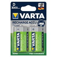 VARTA Rechargeable D Batteries, Pack of 2 - 56720101402