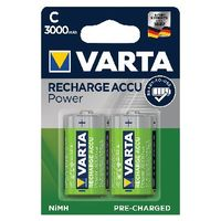 VARTA Rechargeable Size C Batteries, Pack of 2 - 56714101402