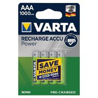 VARTA Rechargeable AAA Batteries, Park of 4 - 56703101404