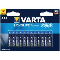 VARTA High Energy Alkaline AAA Batteries, Pack of 12 - 4903121482