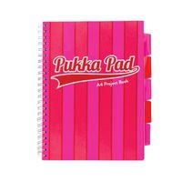 Pukka Pad Vogue Pink A4 Project Books, Pack of 3 - 8537-VOG