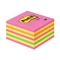 View more details about Post-it 76 x 76mm Neon Notes Cube | 2028 NP