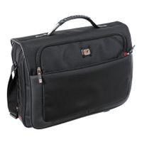 Gino Ferrari Black Titan Messenger Bag - GF521