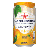 San Pellegrino Aranciata Orange 330ml Cans, Pack of 24 - 12166832