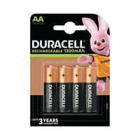 View more details about Duracell StayCharged 1300mAh Rechargeable AA Batteries, Pack of 4 - 81367177