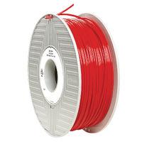 Verbatim Red 2.85mm PLA 3D Printing Filament, 1kg Reel - 55279