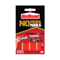 View more details about No More Nails Red Permanent Adhesive Strip 20mm x 40mm (Pack of 10)