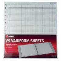 Rexel Twinlock Variform V5 Refills, 10 Cash Columns (Pack of 75) - 75964
