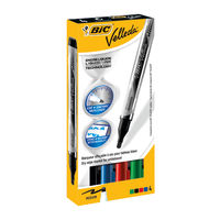 View more details about Bic Velleda Assorted Liquid Drywipe Marker Pens (Pack of 4) - 902094