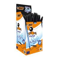 Bic Black Cristal Soft Medium Ballpoint Pen (Pack of 50) - 918518