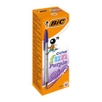 Bic Cristal Fun Purple Ballpoint Pens (Pack of 20) - 929055